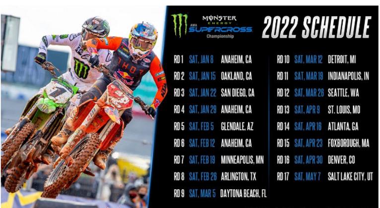 AMA Supercross – Calendário 2022