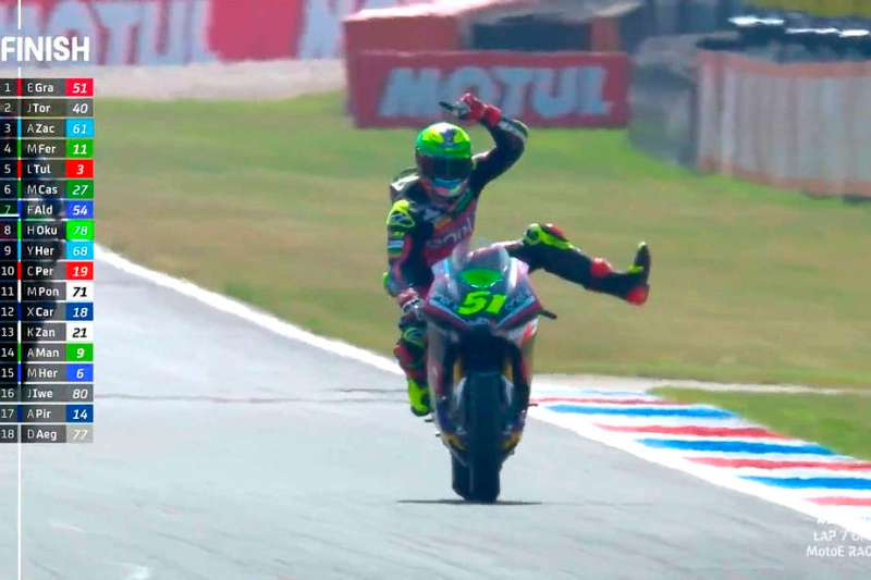 eric granado celebra vitória na motoe