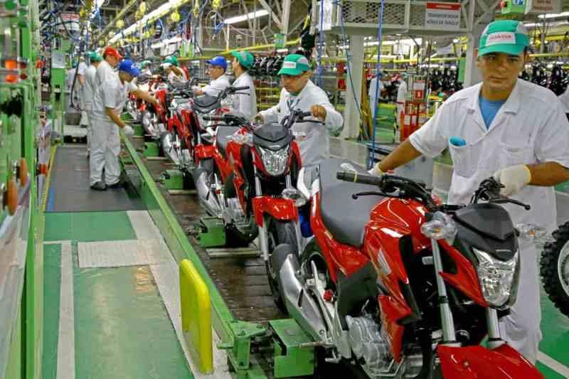 motos honda linha de montagem fabrica