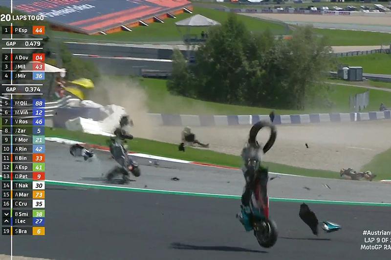 motogp acidente austria 2020
