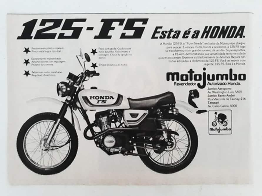 Honda FH 125 motojumbo - tataravó da Bros 160